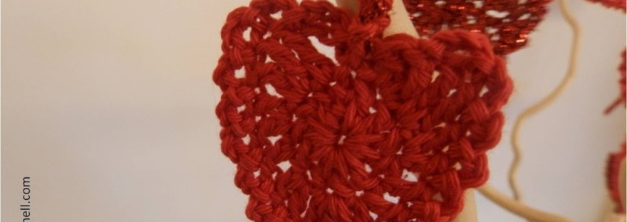 Be My Valentine Heart Garland Free Crochet Pattern Its All In A