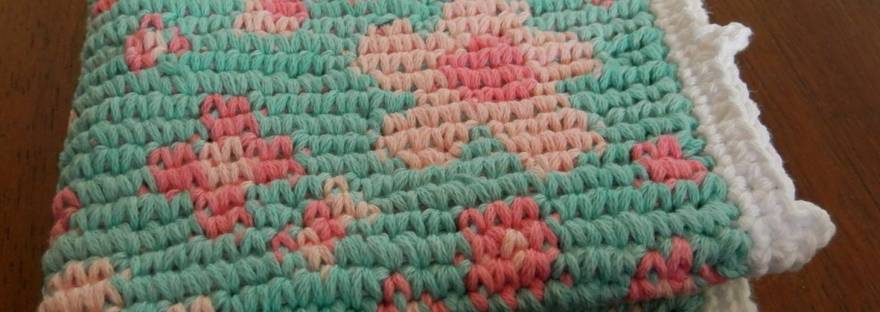 Little Box Of Crochet May 2016 Floating Blossom Washcloth Its