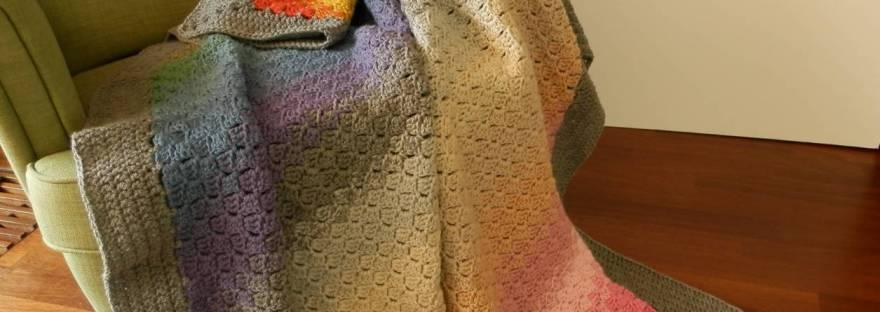 Spectrum C2c Ombre Blanket Free Crochet Pattern Its All In A