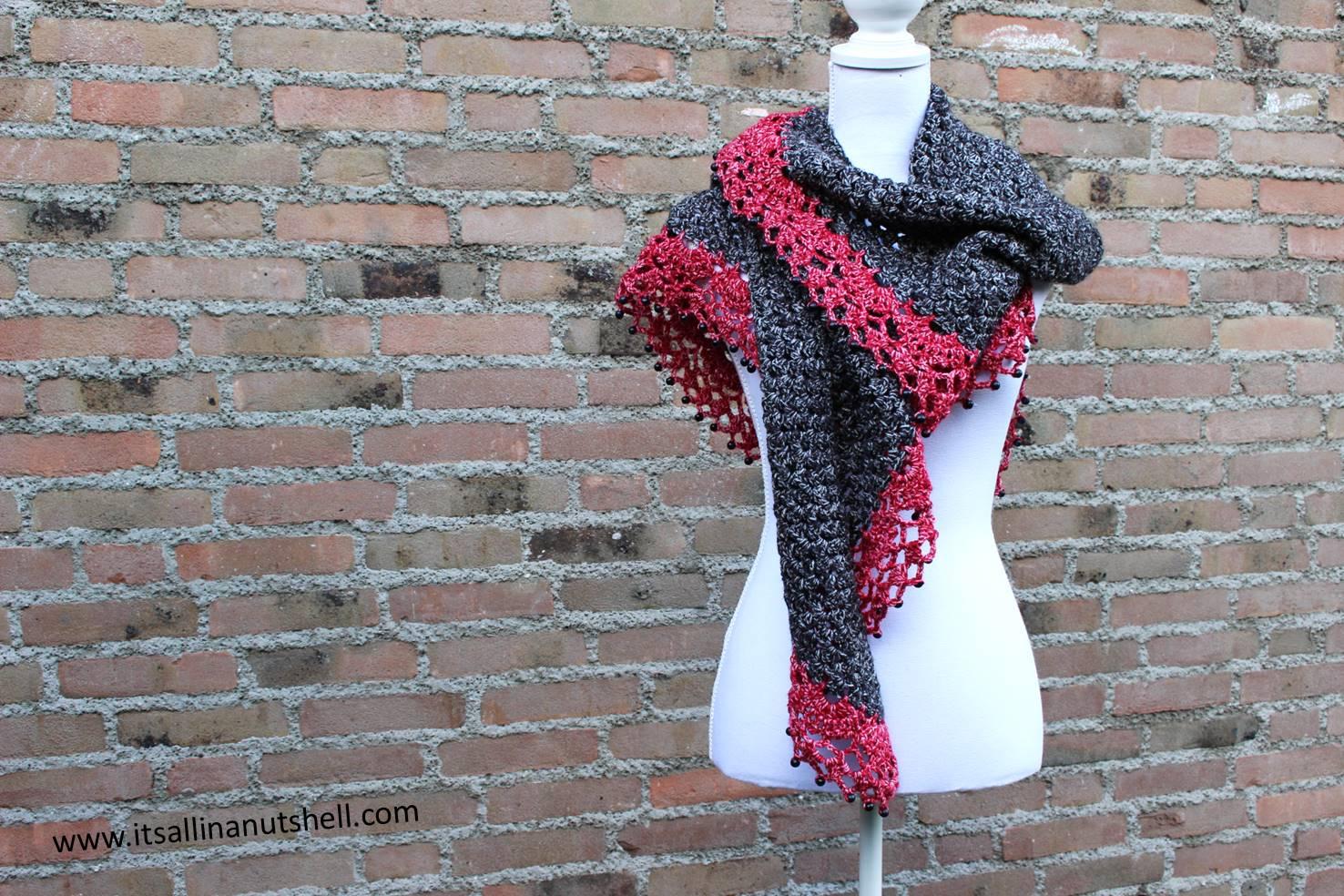 Touch Of Velvet Wrap Free Crochet Pattern Its All In A Nutshell
