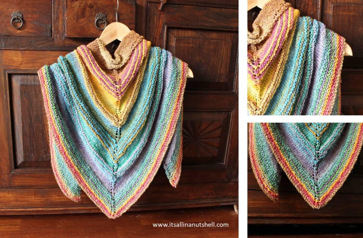 Knitted Shawl Of Secrets It S All In A Nutshell Crochet
