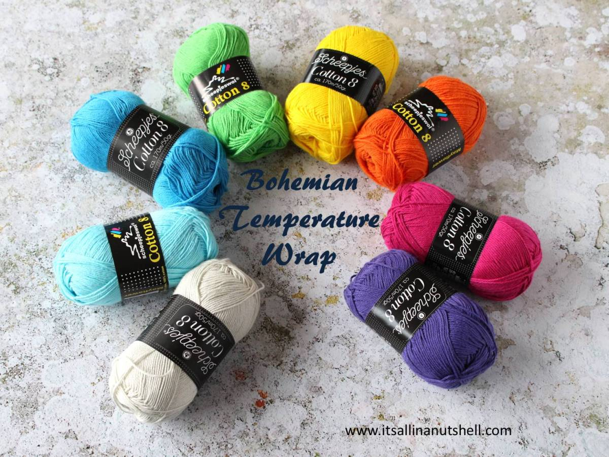 Bohemian Temperature Wrap 2019 - free pattern, colorway and yarn amounts